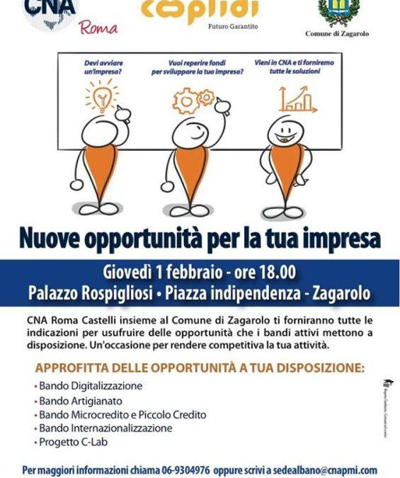 Presentate le nuove opportunità per le imprese