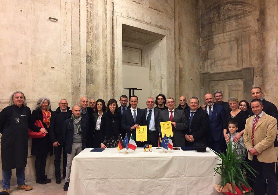 Firmata la Carta di amicizia con il Comune di Hamm